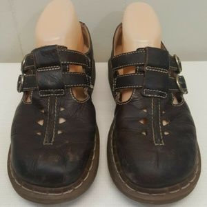 Doc Dr Marten Shoes Mary Jane Brown Leather US7